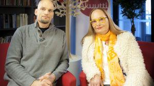 toimittaja mikko penttilä ja naistentautien erikoislääkäri Anneli Kivijärvi