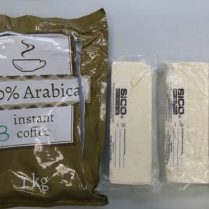 Amfetamin gömt i ett kaffepaket.