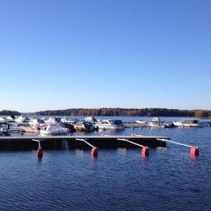 Aurlax småbåtshamn i Lojo.