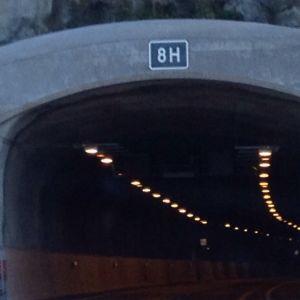 Karnaistunneln på motorvägen mellan Åbo och Helsingfors.
