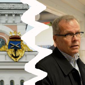 Olavi Kaleva splittrad från Lovisa rådhus