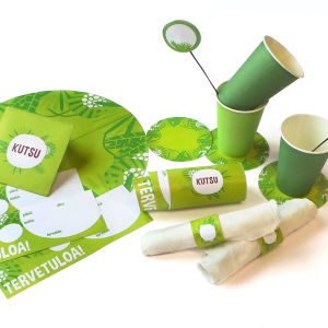 Vihreät synttäritulostettavat, pääkuva