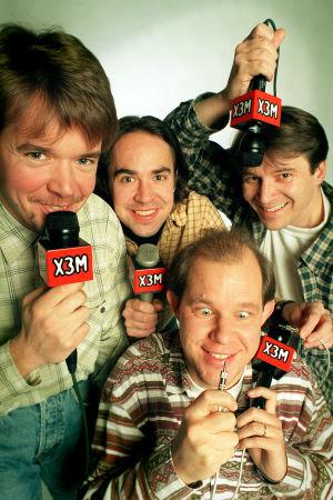 X3M-sporten med Kaj Kunnas, Hans Grönqvist, Jens Berg och Johan Portin, 1998