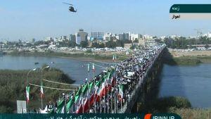 Demonstration i Ahvaz i Iran.
