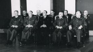 Nazikollaboratören Vidkun Quislings regering under den tyska ockupationen av Norge. Quisling längst till vänster.
