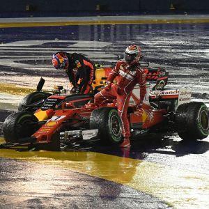 Kimi Räikkönen, Max Verstappen.