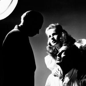 Richard Widmark, Coleen Gray ja Victor Mature elokuvassa Kuoleman suudelma