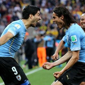 Luis Suarez och Edinson Cavani är sitt lands bästa målskyttar.