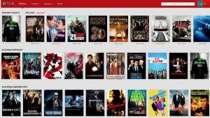 Netflixin etusivu