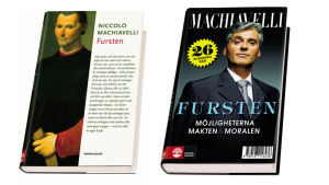 Omslag till Machiavellis Fursten, utgiven av Natur & Kultur