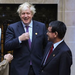 Storbritanniens utrikesminister Boris Johnson under G20-utrikesministermöte i Argentina den 21 maj.