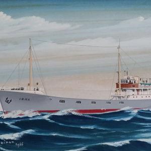 Fartyget m/s Irma förliste på norra Ålands hav år 1968