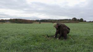 Pekka Kupila (Menneiisyyden metsästäjät) kaivaa pellolla