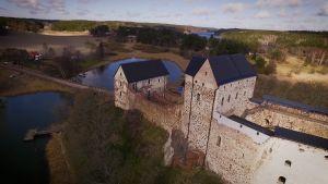 Kastelholman linna 1300-luvun loppupuolelta.