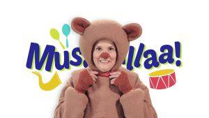 Musarullaa-logo ja nalle