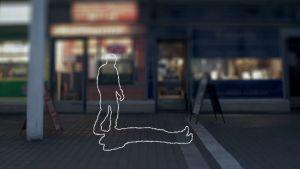 Kontulan ostoskeskukseen sijoitettu animaatiopiirros tappelusta
