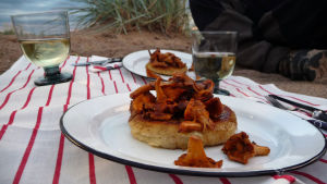 Potatisscones med kantareller