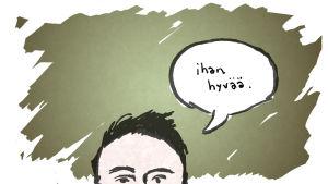 Puoli seitsemän, Tunneviikko, kuvituskuva Antti Niemen artikkeliin