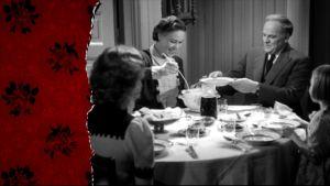 En familj runt middagsbordet, ur arkivet
