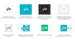 The Yle logo must not be edited