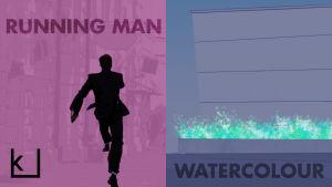 kiasma, taidekilpailu 2016, voittajat, running man, watercolour,