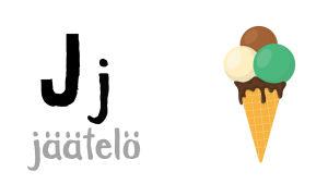 J - jäätelö