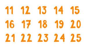Numerot 11-25