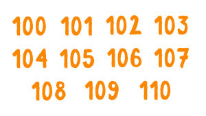 Numerot 100-110