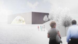Havainnekuva tulevaisuuden museosta