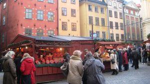Tukholman Stortorgetin joulumarkkinat.