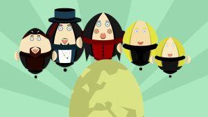 Kubalaisen Rafael Santosin animaatiohahmot Nightwishin tarinaan.