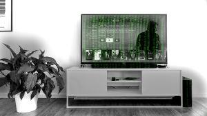 Televisio, jossa koodia.