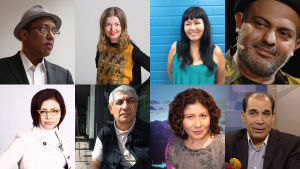 Kirjailijat Ye Yint Thet Zwe, Kiamars Baghbani, Tanya Tynjälä, Polina Kopylova, Maritza Núñez,