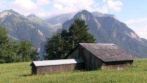 Kanontorn eller hölada - bunker i Schweiz.