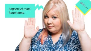 Jenny Lehtinen ja puhekupla: Lapseni ei toimi kuten muut