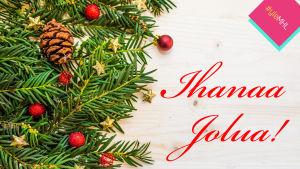 Epäonnistunut joulukortti: ihanaa jolua