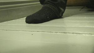 Golvet fick bucklor.