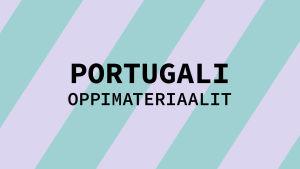 Navigaatiokuva aineen portugali oppimateriaaleille.