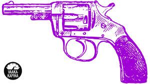 Violetti vanhanaikainen revolveri