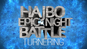 Logo text Hajbo Epic Night Battle