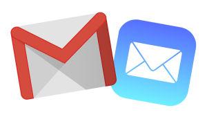 Google Gmailin ja Apple Mailin kuvakkeet eli ikonit