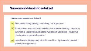 Finnairin sivujen palkki jossa lukee Uusimmat tarjoukset suoraan sähköpostiisi
