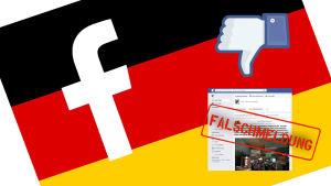 Facebook ja Saksan lippu