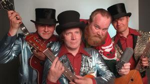 Gösta Sundqvist ja The Drapes- eli AVerhot-yhtye ohjelmasta Göstan stereogramofoni 1970-79.