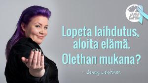 Jenny Lehtinen kutsuu mukaan Vaakakapinaan.