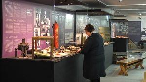 """Hangö frontmuseums utställning """"Hangö i främmande händer""""."""