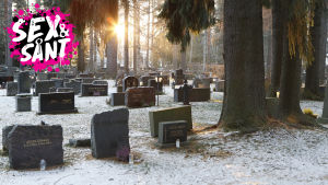 en begravningsplats var det är solnedgågn