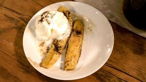 Banane flambee.
