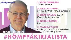 Antti Tuuri ja hänen #hömppäkirjalista
