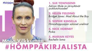 Maija Vilkkumaan hömppäkirjalista kesän lukuvinkeiksi.